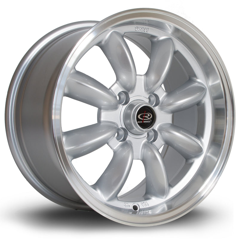 Rota RB, 15 x 8 inch, 4100 PCD, ET30 Silver with Polished Lip - Rotashop