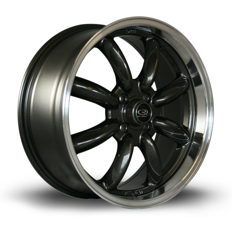 Rota RB, 17 x 7.5 inch, 4100 PCD, ET45 Gunmetal Polished Lip - Rotashop