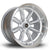 Rota RBX, 17 x 9.5 inch, 4114 PCD, ET-19 Silver with Polished Lip