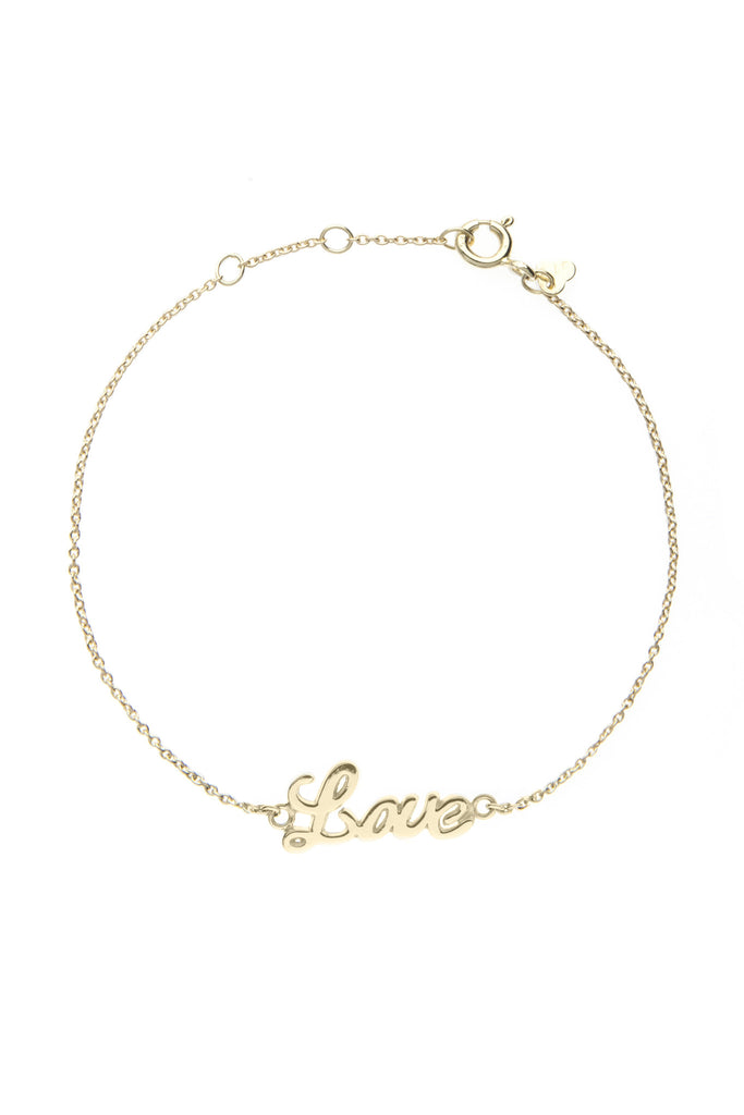Yellow gold LOVE bracelet