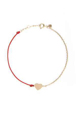 HalfHalf rose heart bracelet