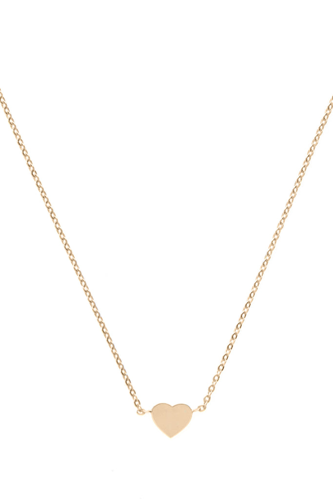 Gold rose Heart necklace
