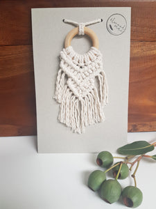 Macrame Car Mirror Decorations