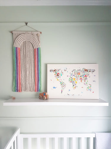 Candy Rainbows Wall Hanging