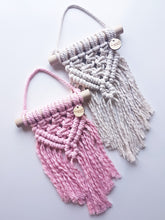 Load image into Gallery viewer, Mini Macrame Wall Hanging