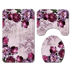 4 piece Floral bath set