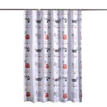 Load image into Gallery viewer, Cute Kitty Shower Curtain With Hooks Included
