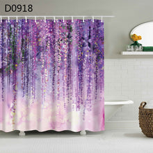Load image into Gallery viewer, 3D Shower Curtains with hooks included
