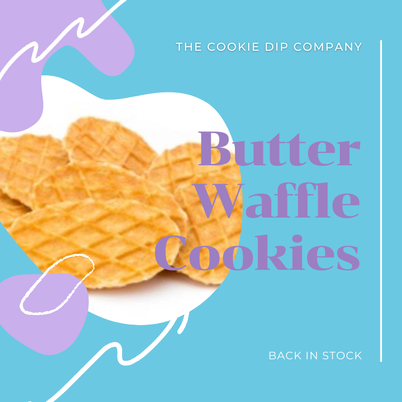 Butter Waffle Cookies - The Cookie Dip Company