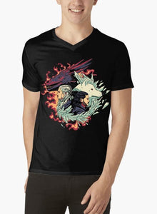 Fire and Ice GOT V-Neck T-shirt