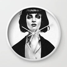 Load image into Gallery viewer, Mrs Mia Wallace Wall clock