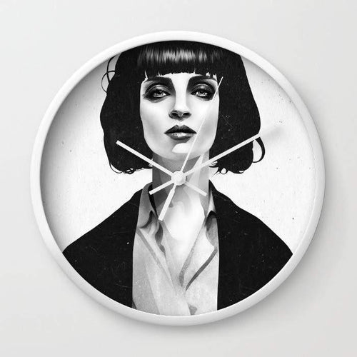 Mrs Mia Wallace Wall clock