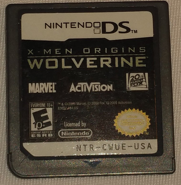 X-Men Origins Wolverine Nintendo DS Game