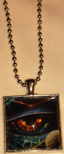 Lizard Eye Pendant Necklace