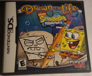 Drawn To Life Spongebob Edition. Nintendo DS Game