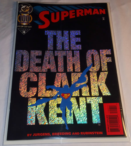 Superman Centennial Issue with Holographic Cover!