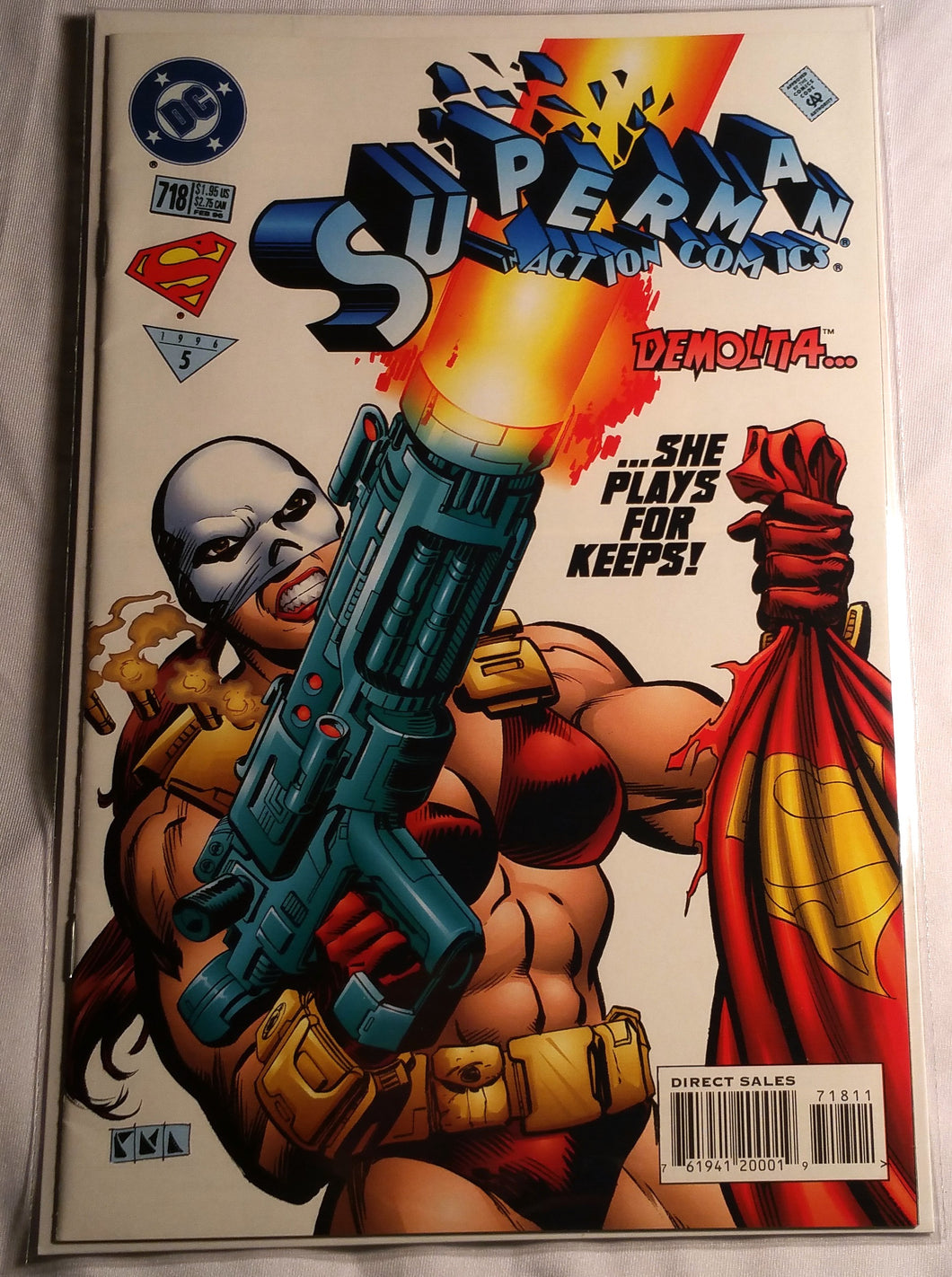 Superman In Action Comics #718 - First Appearance Of Demolitia!