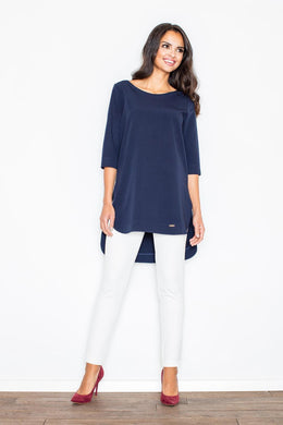 Navy Blue Figl Blouse