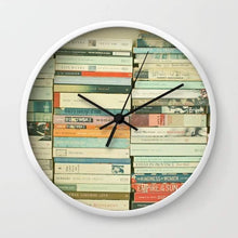Load image into Gallery viewer, Bookworm Wall clock