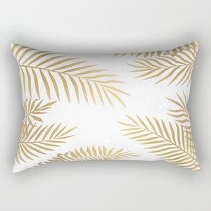 Golden Leaf Rectangle Pillow