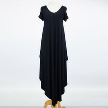 Load image into Gallery viewer, Side Slit Short Sleeve Casual Maxi Dress