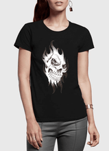 Load image into Gallery viewer, Skull Sketch Half Sleeves Women T-shirt
