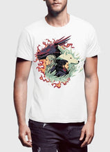 Load image into Gallery viewer, Fire and Ice GOT Half Sleeves T-shirt