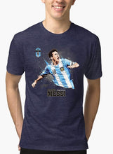 Load image into Gallery viewer, Messi Half Sleeves Melange T-shirt