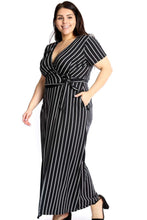 Load image into Gallery viewer, Elegant Plus Size, Plunging Neckline Maxi Dress