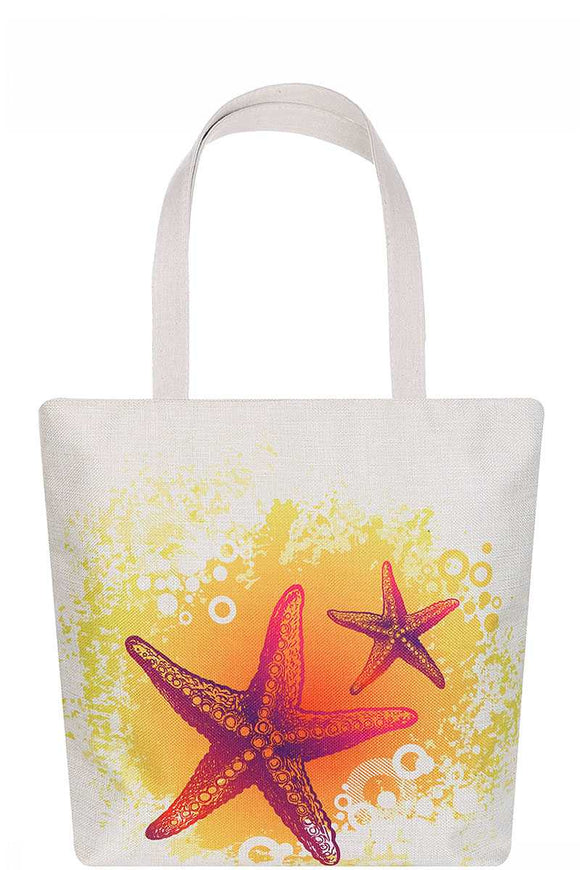 Stylish Star Fish Print Ecco Tote Bag