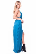 Load image into Gallery viewer, SATIN CHOKER MAXI DRESS