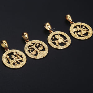 Zodiac Sign Pendant Necklace! Beautiful!