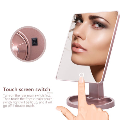Touch Controlled Makeup Mirror. Bright and Adjustable!