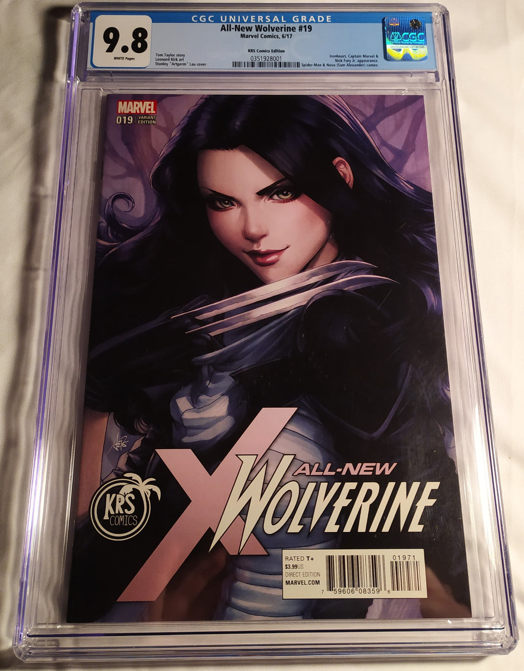 All New Wolverine 19 Artgerm Color Variant 9.8 by CGC