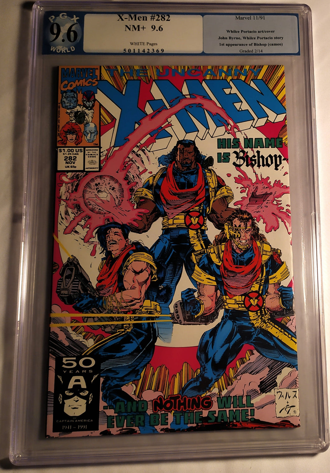 X-Men #282 Graded 9.6 NM