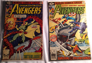 The Avengers Cover Damage Lot(35 and 40¢ Comics)