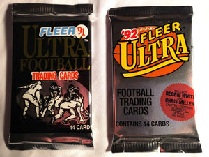 Fleer Ultra 91' and 92' Sealed Football Packs