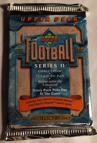 Upper Deck Football Series II 1992 Sealed Card Pack