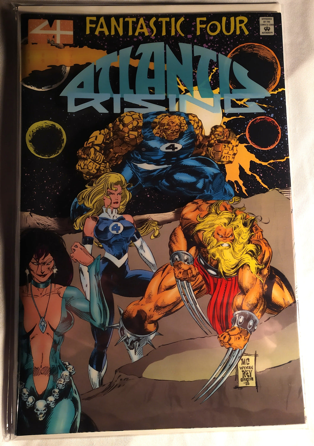 Fantastic Four: Atlantis Rising with the Original Sleeve!