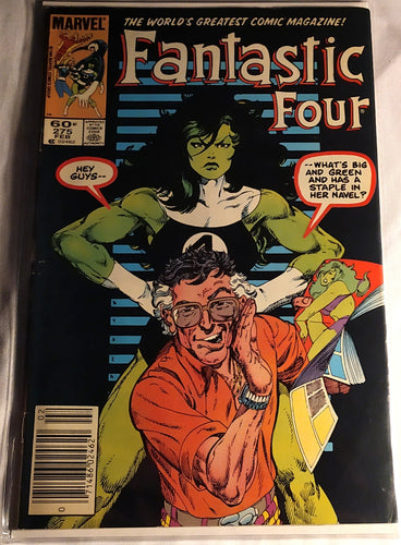Fantastic Four 275. Stan Lee Look A Like and She-Hulk Cover