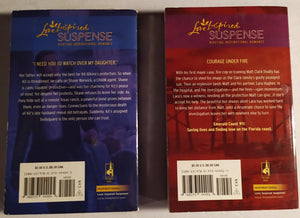 LoveInspired Suspense Paperback Bundle Back Covers
