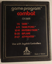 Load image into Gallery viewer, Combat Game Program For Atari 2600 (27 Games In One!)