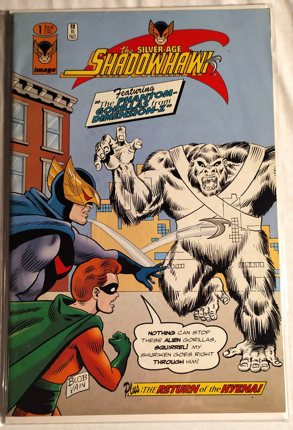 The Silver- Age Shadowhawk #1-Featuring The Phantom Gorillas From Dimension- Z