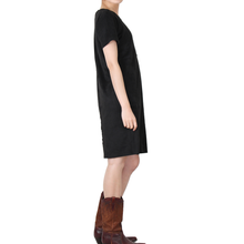 Load image into Gallery viewer, Way Beyoung Women's Black Stretch Short Sleeve Knee High Dress