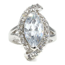 Load image into Gallery viewer, Large Marquise Single Stone Asymmetrical Ring