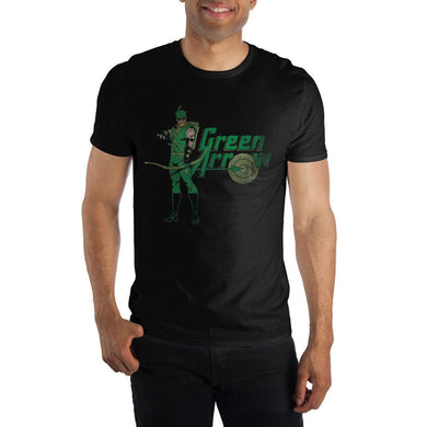 Green Arrow DC Comics Men's Black T-Shirt Tee Shirt