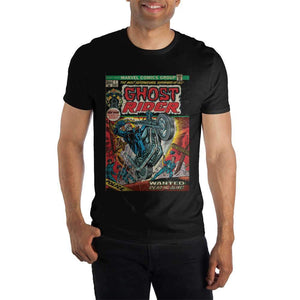 Ghost Rider Comic Book Cover Black T-Shirt Tee Shirt