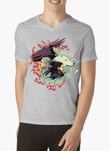Load image into Gallery viewer, Fire and Ice GOT V-Neck T-shirt
