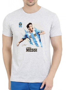 Messi Half Sleeves Melange T-shirt