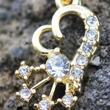 Load image into Gallery viewer, Gold Heart and Shooting Star Dangle Navel Ring